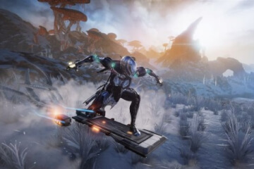 Warframe Ride a Hoverboard in Fortuna