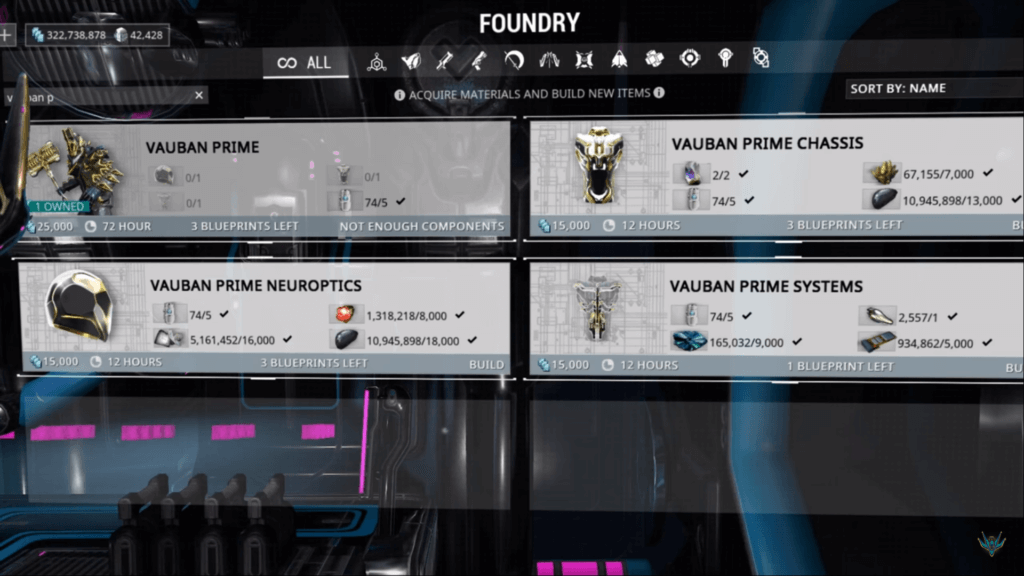 You need 20 Nitain Extract to craft Vauban Prime