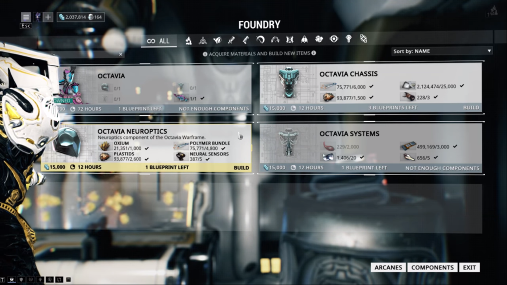 All octavia's parts at once