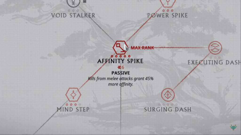 Affinity Spike Ability helps to gain even more focus points by killing enemies with your melee weapon