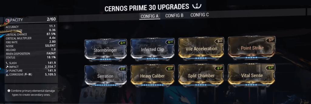 Cernos Prime Build that I use