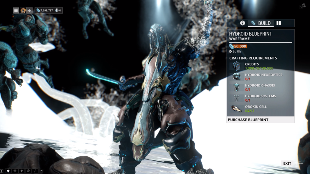 Hydroid parts that are required to craft Hydroid