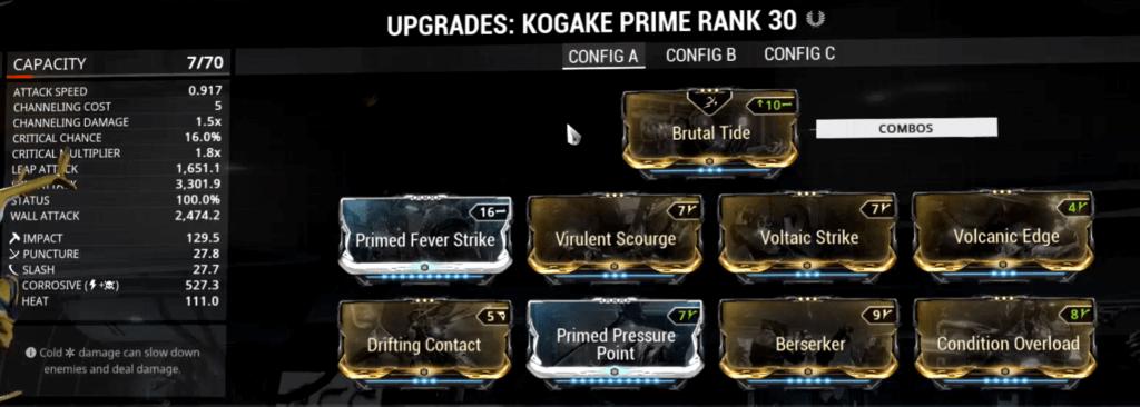 Kogake Prime Build that I use