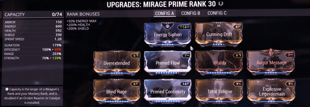 Mirage Prime Build that I use