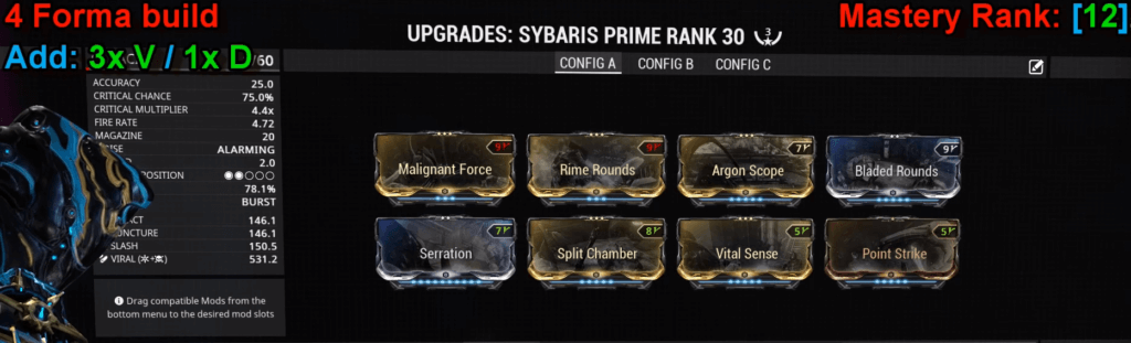 Sybaris Prime Build that I use