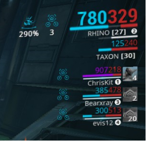 Affinity range icon in Warframe