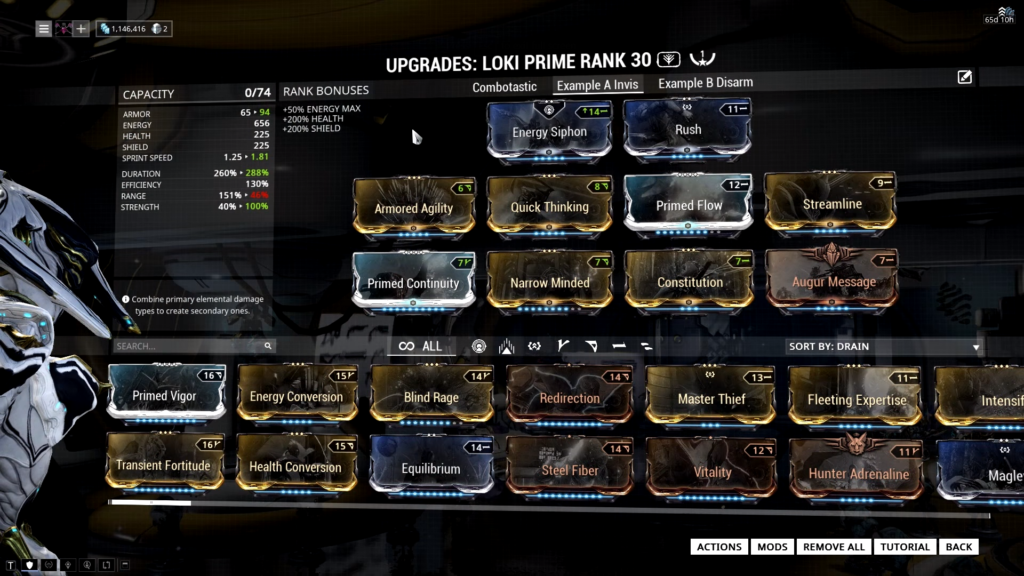 Loki Prime Build towards invisibility ability