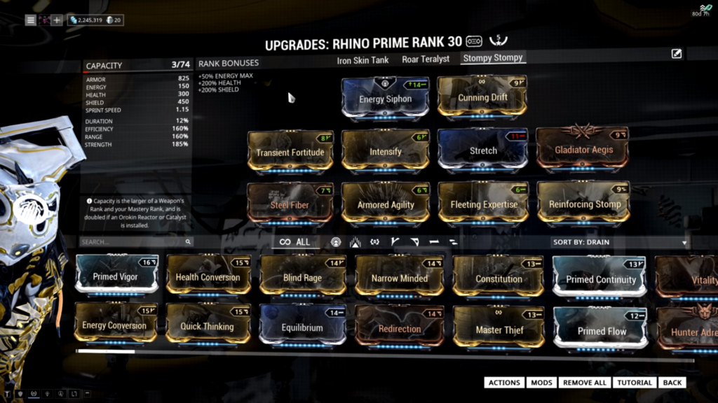 Rhino Stomp Build Warframe Rhino Build Rhino Build