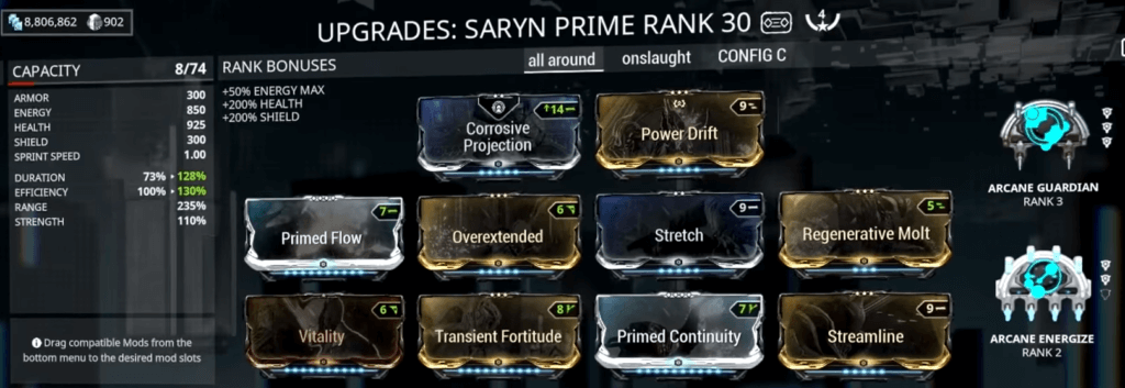 Saryn Spore Build that I use