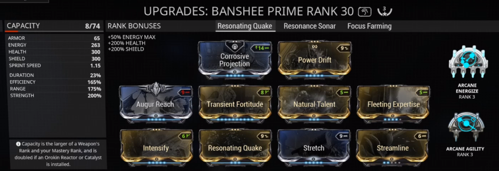Banshee Resonating Quake Nuke Build that I use
