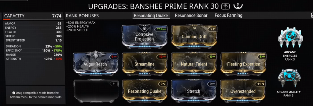 Banshee Resonating Quake CC Build that I use