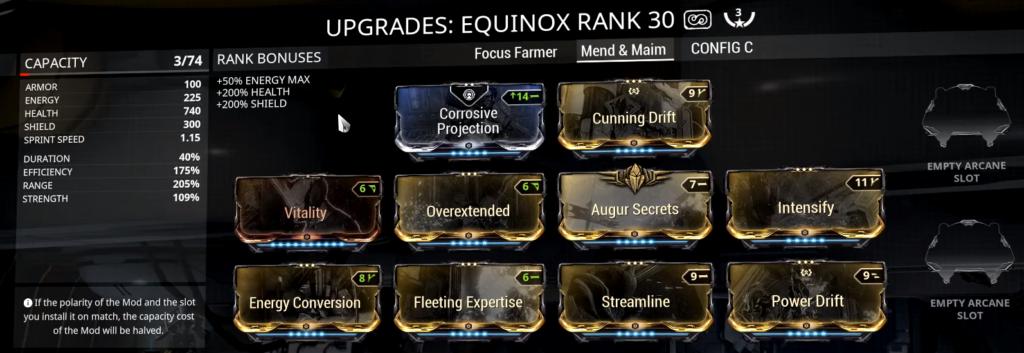 equinox mend and maim build equinox maim build equinox build