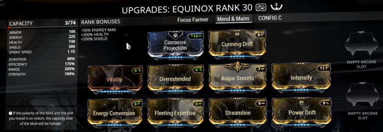 Equinox Bug Mend Maim Deal 0 Damage Warframe