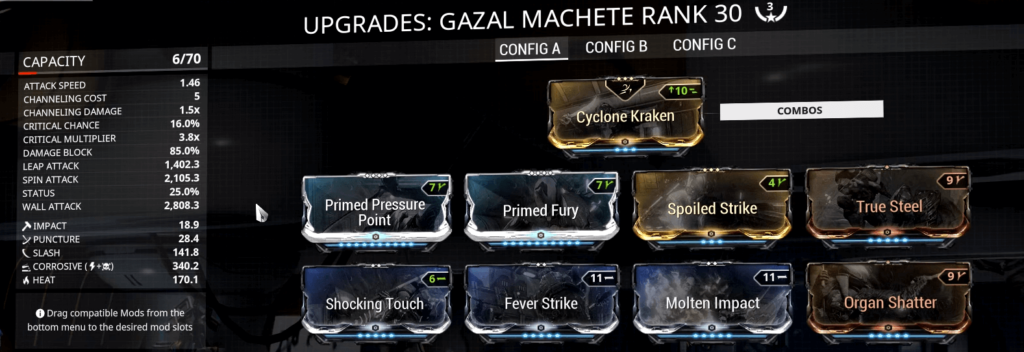 Iron Jab and Primal Fury are affected by mods on your melee weapon