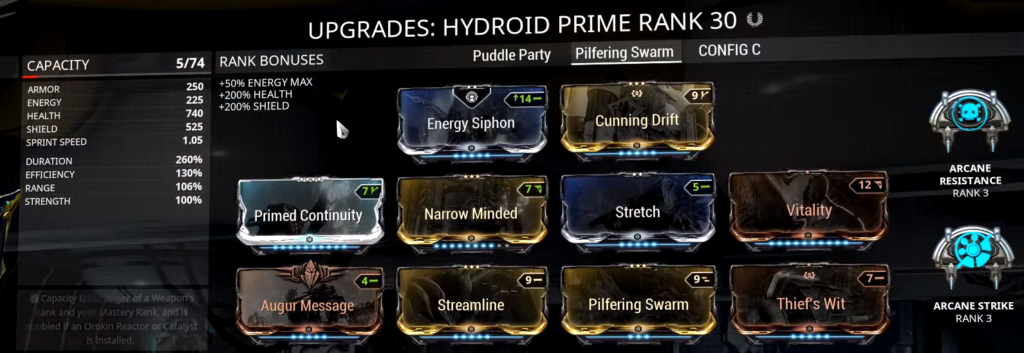 Hydroid Pilfering Swarm Build that I use
