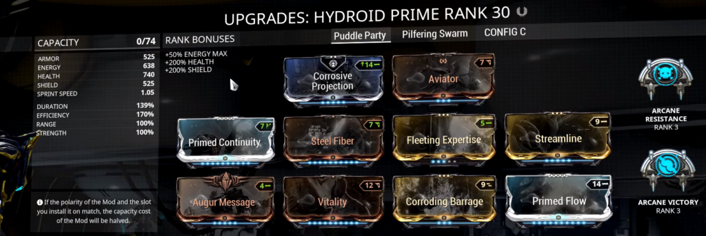 Hydroid Puddle Build that I use