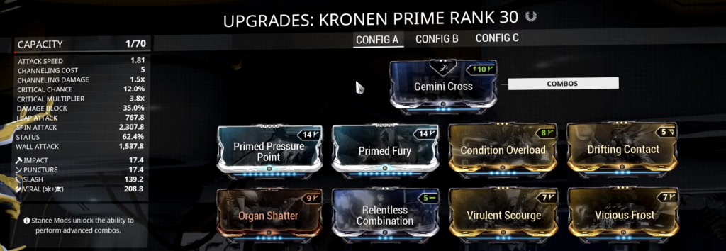 Kronen Prime Build that I use