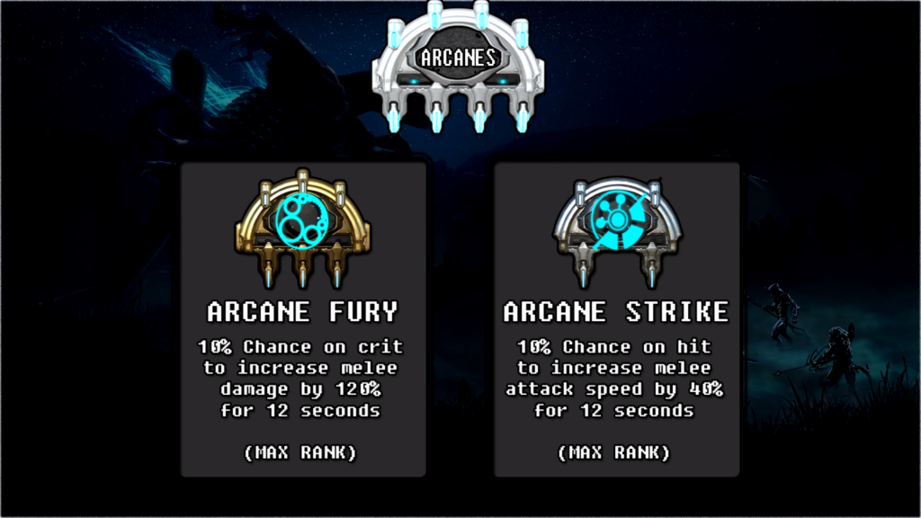 Arcanes that nice synergize with Limbo Rift Torrent Build