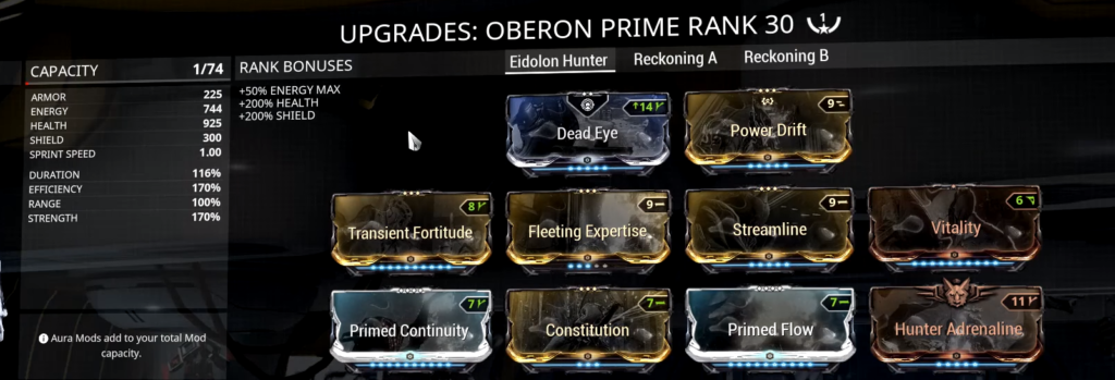 Oberon Eidolon Hunter Build that I use
