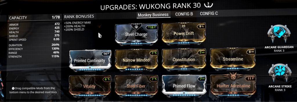 Wukong Immortal Build  Warframe Wukong Build  Wukong Build