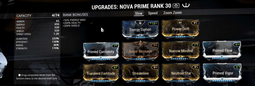 Nova Slow Build Nova Slow Molecular Prime Build Nova Prime Slow Build Neutron star is a warframe augment mod for nova that allows all active null star particles to be detonated by activating the ability. molecular prime build nova prime slow build
