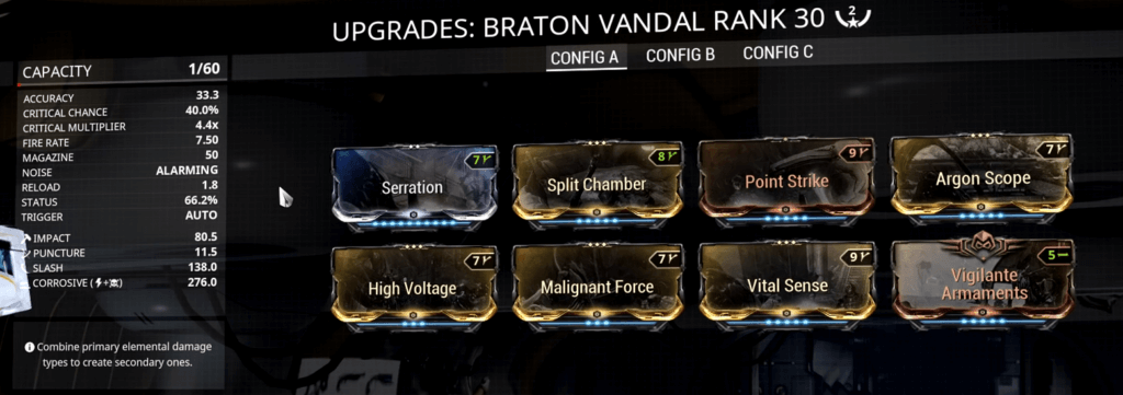 Braton Vandal 2 Forma Build that I use