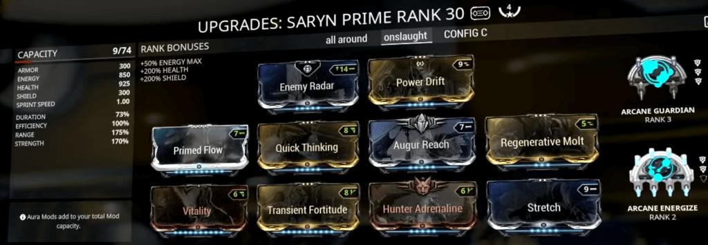 Saryn Spore Build that I use