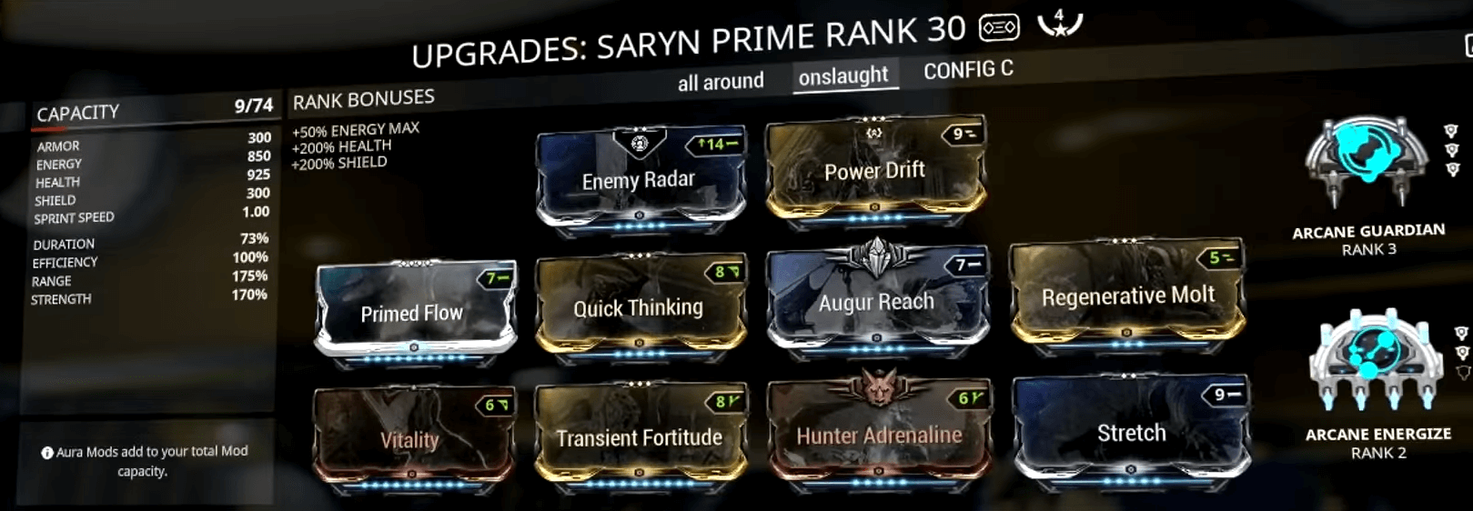 Warframe power strength mods list | Inaros the Immortal Tank