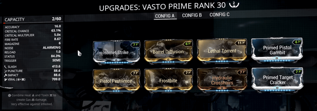 Vasto Prime 2 Forma Build that I use
