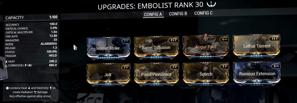 Embolist Corrosive Build