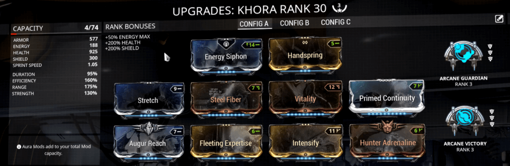 Khora 3 Forma Build that I use