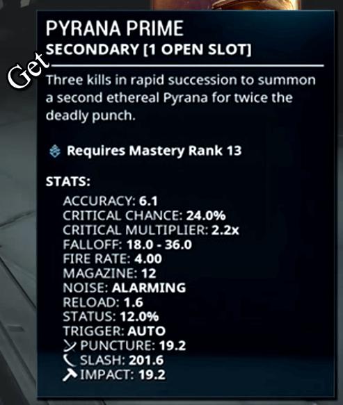 Pyrana Prime leaked Stats