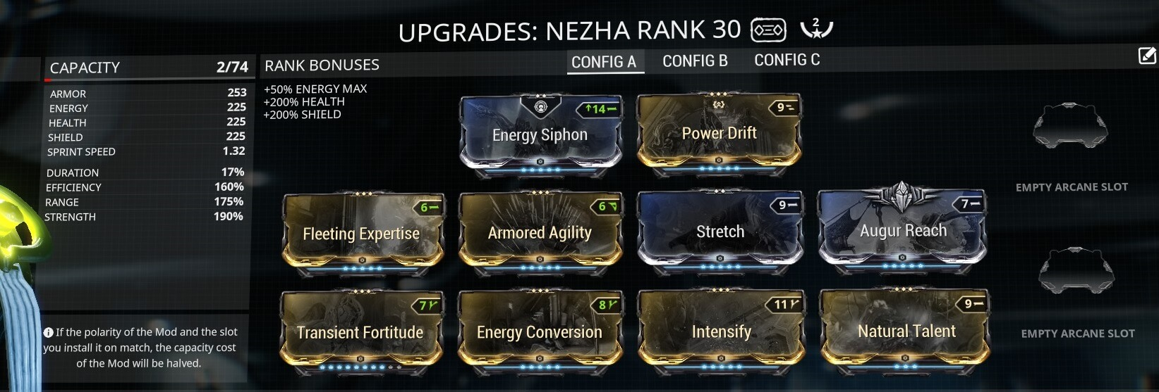 Warframe Nezha Divine Spears 2 Forma Build