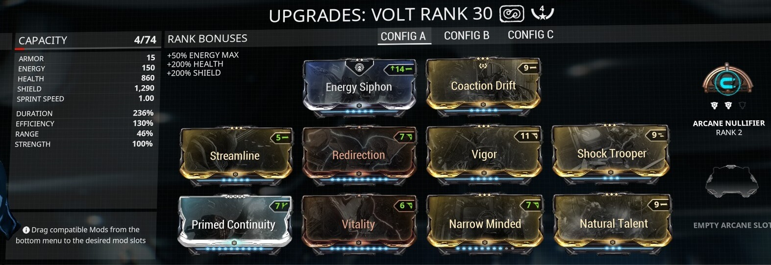 Volt Eidolon Hunter 4 Forma Build