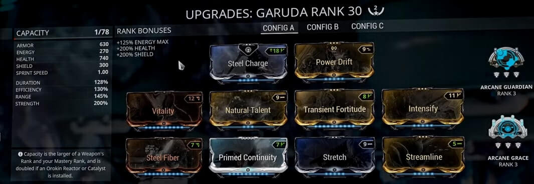 Warframe Garuda 2 Forma Build