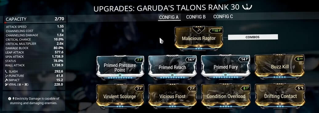 Garudas Talons Build