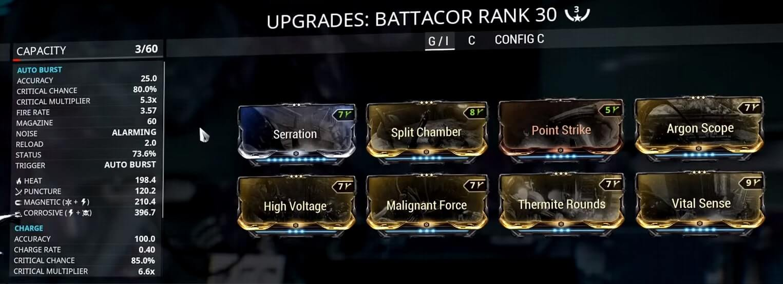 Battacor 3 Forma Build