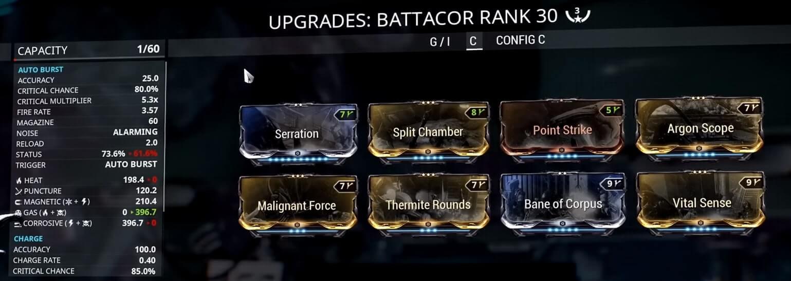 Battacor Corpus Build
