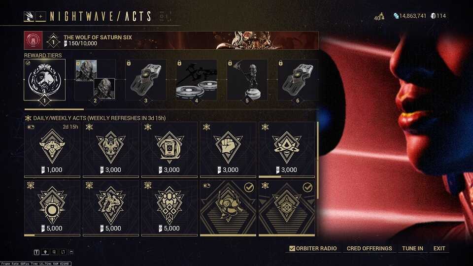 Warframe Nightwave Rewards